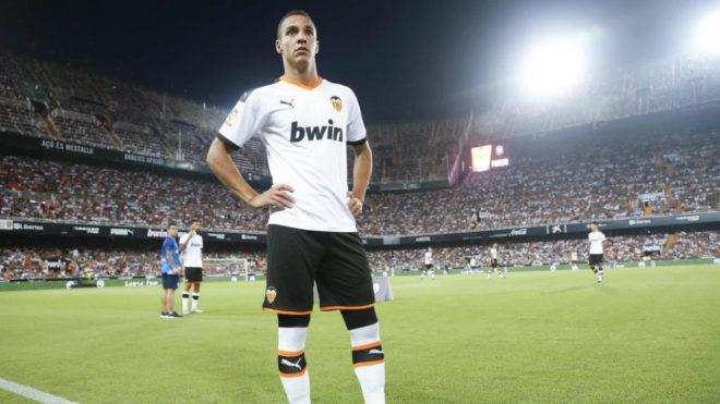 Rodrigo Moreno, en Mestalla.