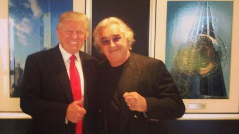 Donald Trump y Flavio Briatore.
