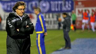 Sergio Egea, durante un partido entre el Oviedo y el Leganés