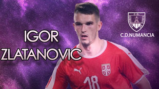 Igor Zlatanovic, nuevo jugador del Numancia.