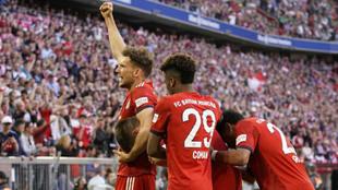 Los jugadores del Bayern de Múnich celebran un gol.