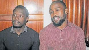 Los condenados Olaba y Wanyama.