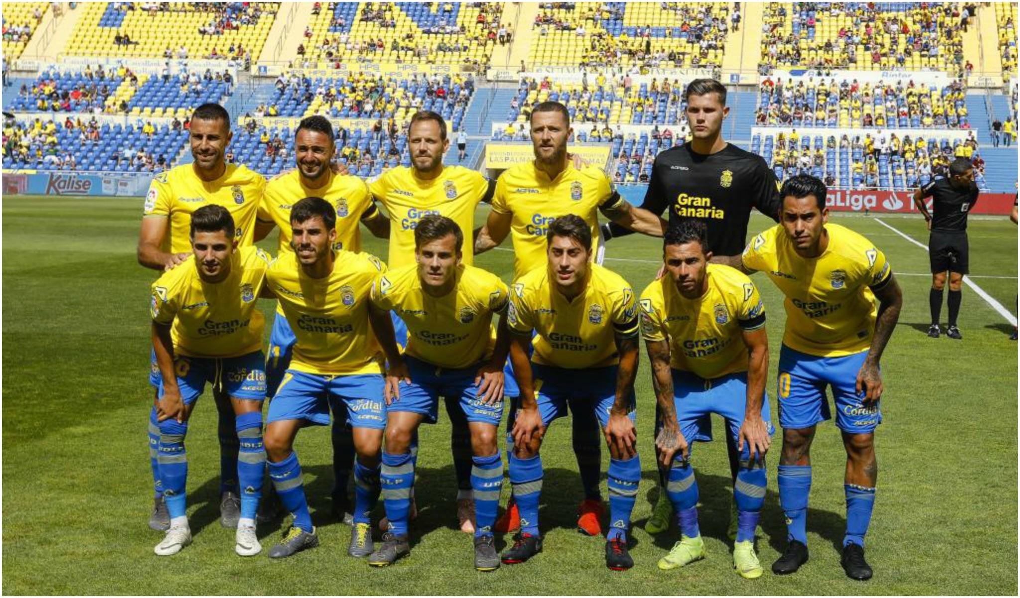 Un once de Las Palmas durante la pretemporada