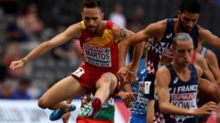 Martos en los 3000m obstáculos en los Campeonatos de Europa de...