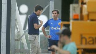 Alemany y Marcelino hablan en la sesión vespertina de este viernes en...