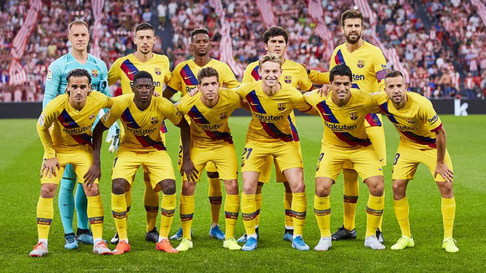 Barcelona's starting line-up against Athletic Club.
