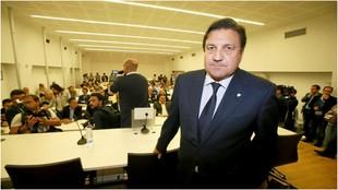 José Sepulcre, antes de una rueda de prensa