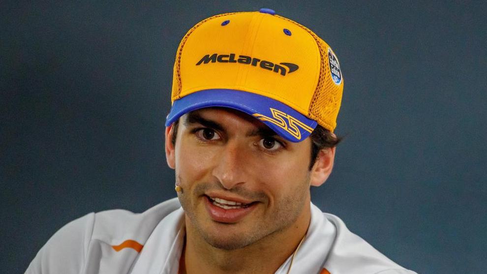 Carlos Sainz, en rueda de prensa.