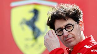 Mattia Binotto, jefe de equipo en Ferrari.