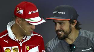 Sebastian Vettel y Fernando Alonso.