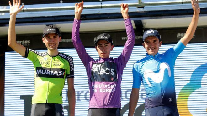 Sosa, en el podio de la Vuelta a Burgos
