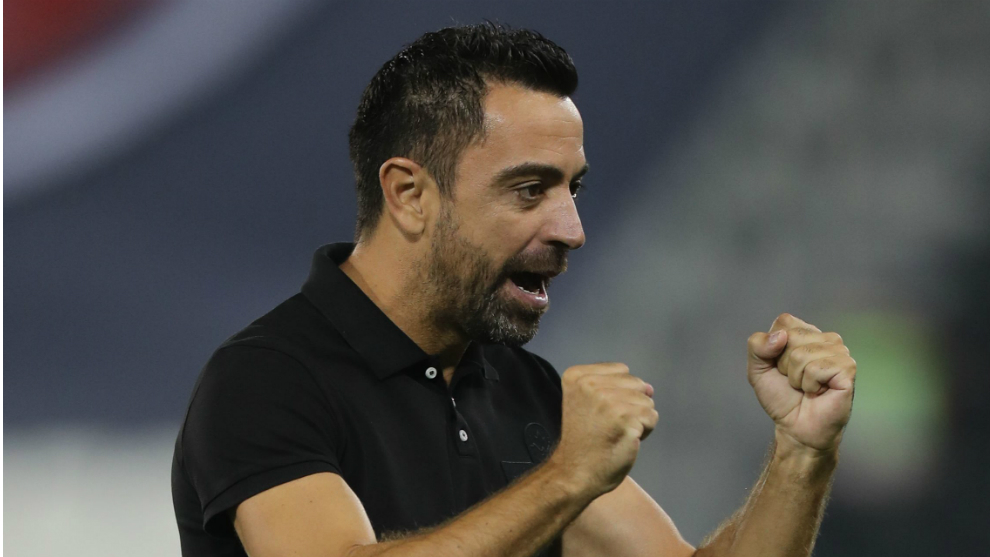 Xavi celebra una victoria con Al Sadd
