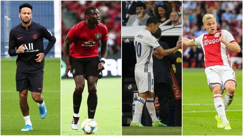 Neymar, Pogba, James Rodríguez y Van de Beek, Las cábalas del Real...