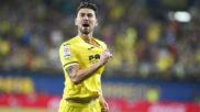 Moi Gómez celebra el gol que anotó con el Villarreal.