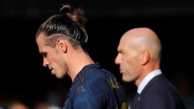 Bale y Zidane, en el partido contra el Celta