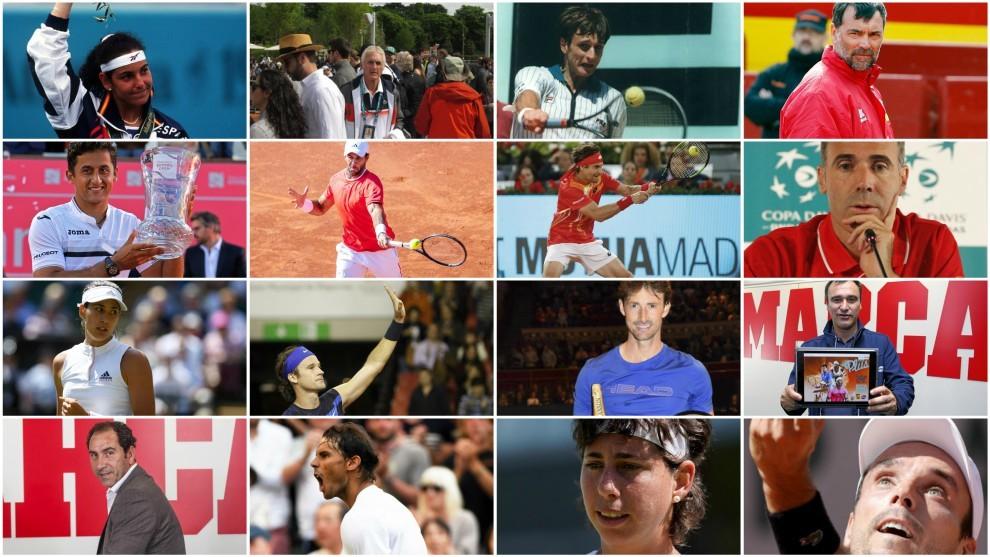 Algunos de los 'Top10' del tenis español