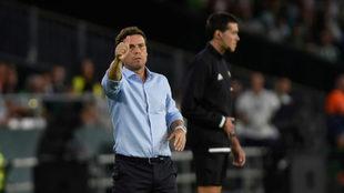 Rubi hace un gesto durante el Betis-Valladolid.