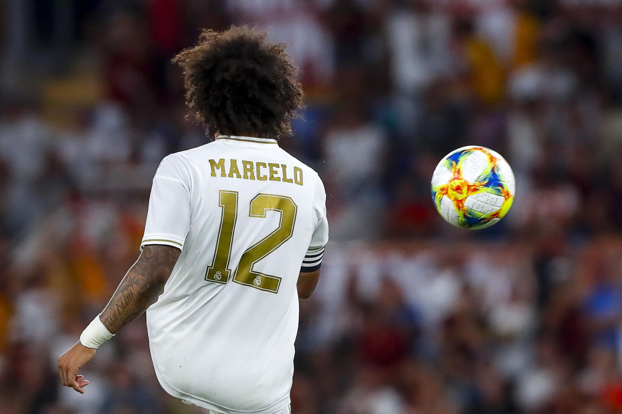 Rome (Italy), 07/08/2019.- Real Madrids <HIT>Marcelo</HIT> shows his dejection during the international friendly soccer match AS <HIT>Roma</HIT> vs Real Madrid CF at Olimpico stadium in Rome, Italy, 11 August 2019. (Futbol, Amistoso, Italia, <HIT>Roma</HIT>) EFE/EPA/ANGELO CARCONI