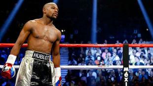 Floyd Mayweather el día de la pelea contra Pacquiao.