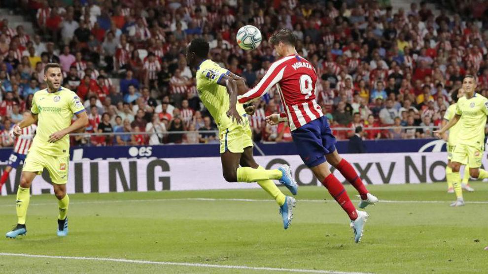 Morata scored a fine header.