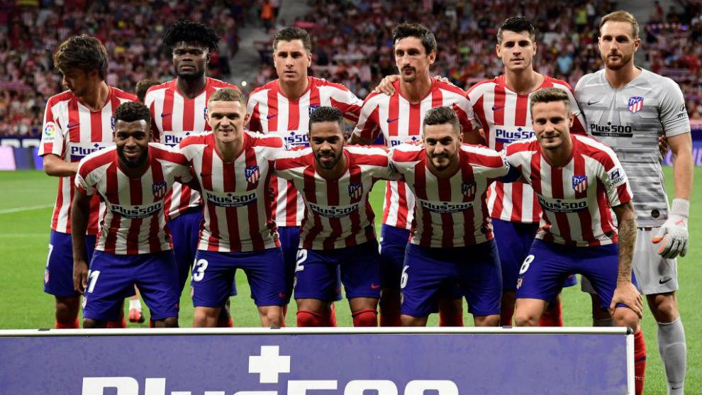 Primer once del Atlético esta temporada.