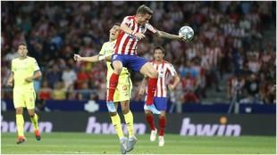 Saúl durante el partido contra el Getafe