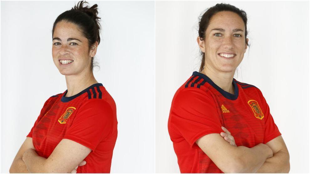Marta Torrejón y Silvia Meseguer, en el posado pre-Mundial de...