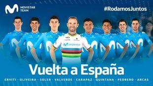 El equipo del Movistar Team para LaVuelta.