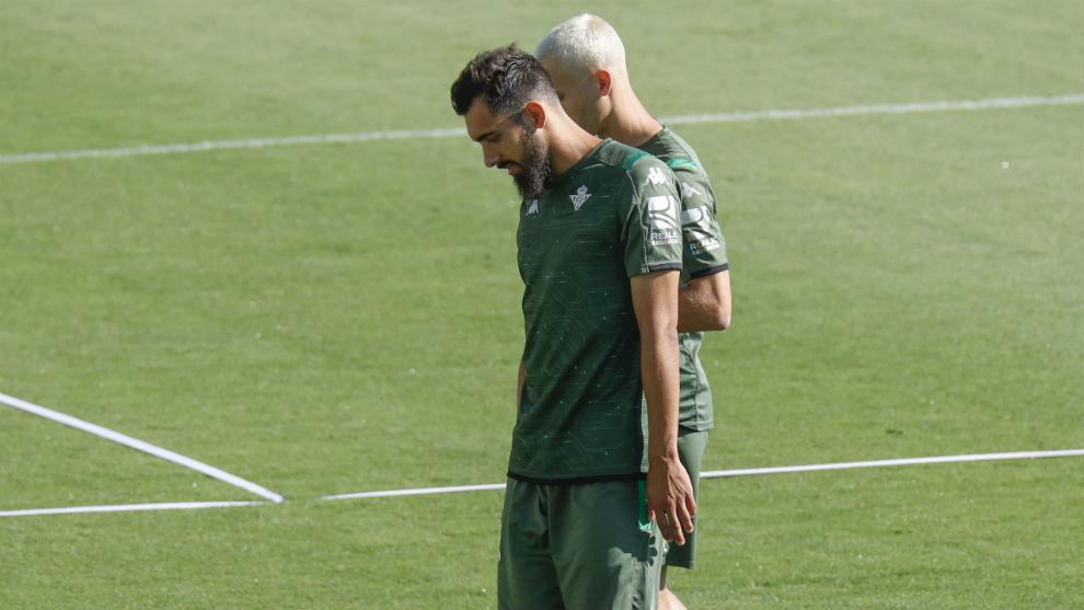 Borja, junto a Canales en la Ciudad Deportiva
