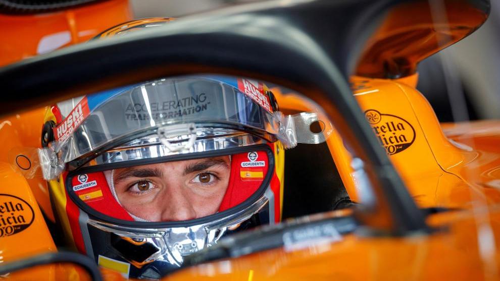 Carlos Sainz en su McLaren.