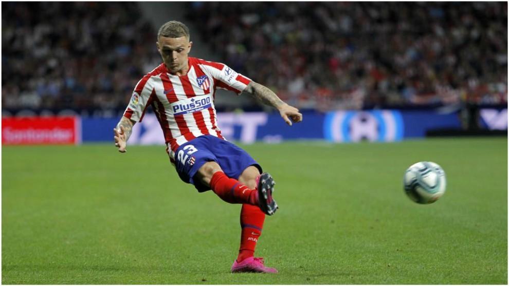 Trippier pone el centro a Morata en el gol del Atlético