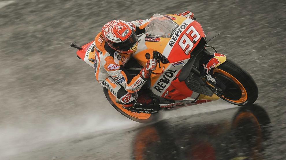 Márquez, en Silverstone.