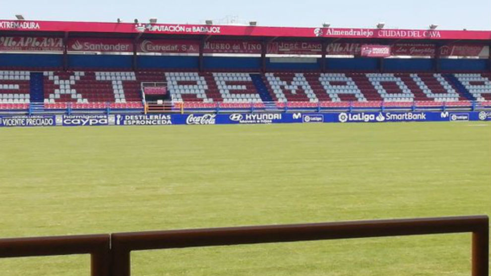Imagen de hoy del estadio del Extremadura.