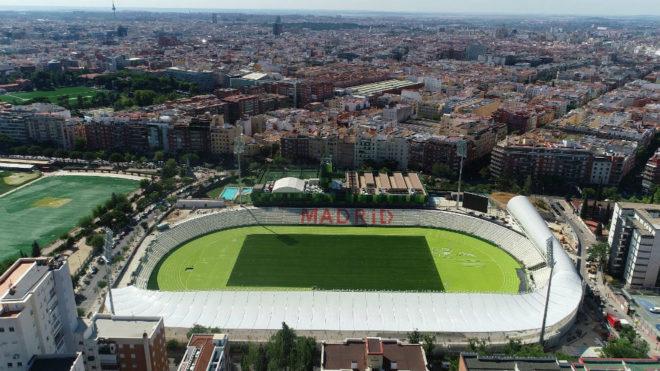 Imagen del estadio de Vallehermoso realizado con un dron.