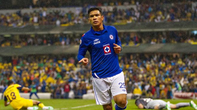Gutiérrez en la cancha del Estadio Azteca
