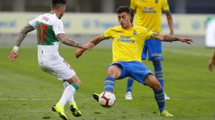 Lemos en un partido con Las Palmas la temporada pasada.