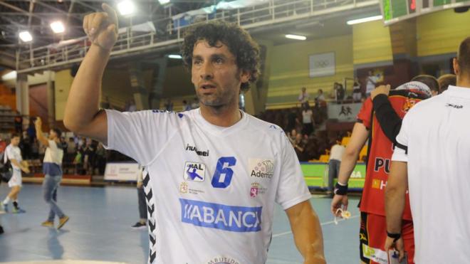Juanín García (41) se retiró la temporada pasada en el Ademar León...