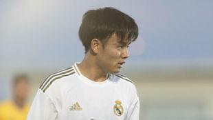 Kubo, en un partido con el Castilla.