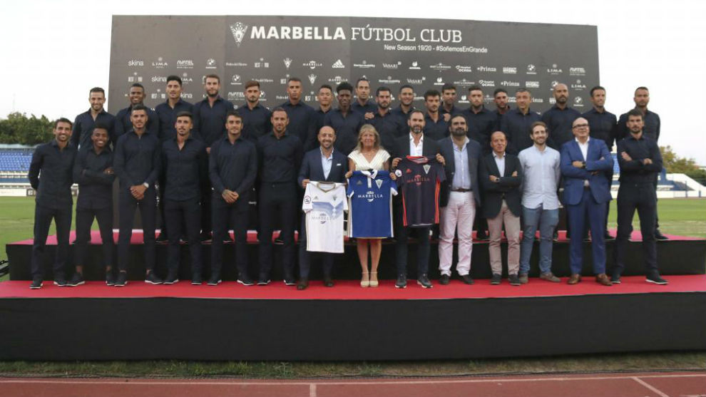 Acto de presentación de la plantilla del Marbella 19-20