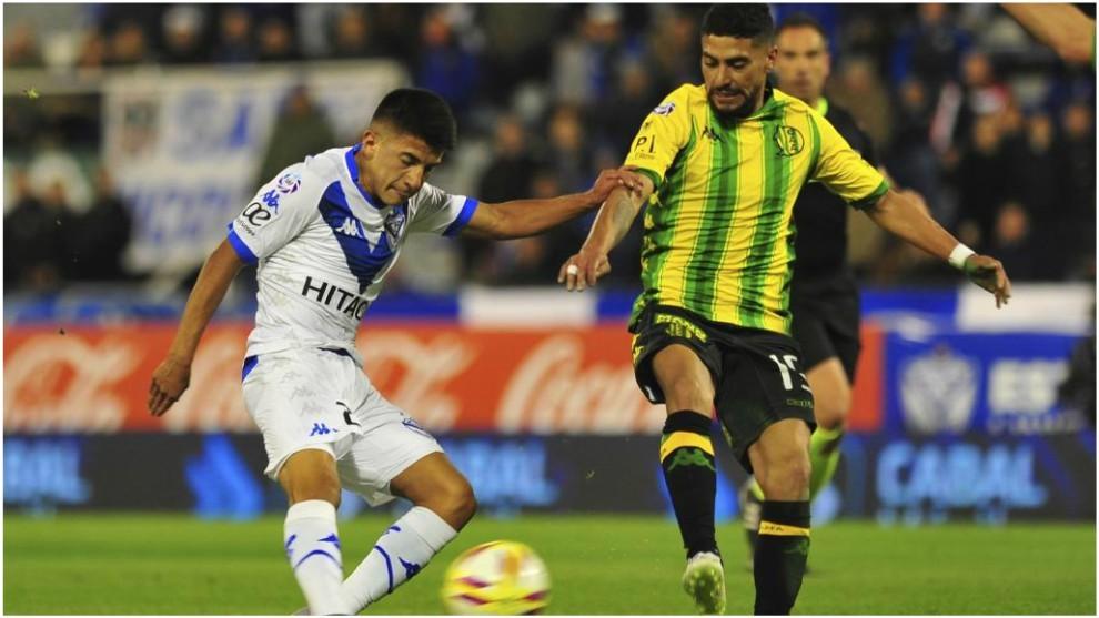 Thiago Almada in action for Velez Sarsfield.