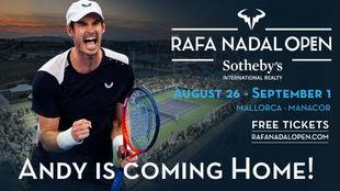 Muarray, estrella del cartel del Rafa Nadal Open by Sotheby...