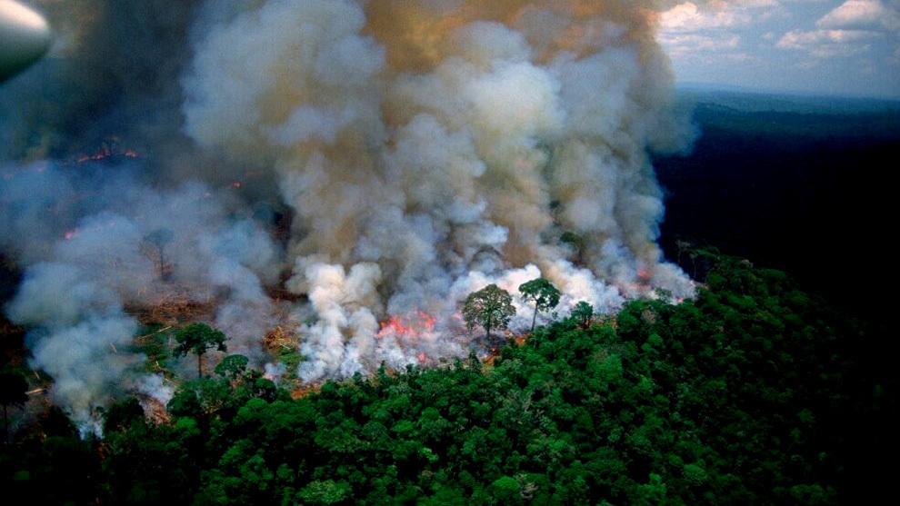 La Amazonía está en llamas y Bolsonaro insinúa que la culpa es de...