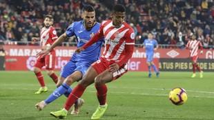 Choco Lozano, en un partido con el Girona ante el Getafe