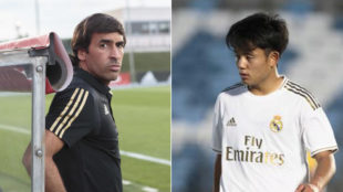 Raul Gonzalez, and Takefusa Kubo playing for Real Madrid Castilla.