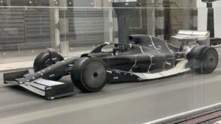 El prototipo para 2021 en el túnel de viento.