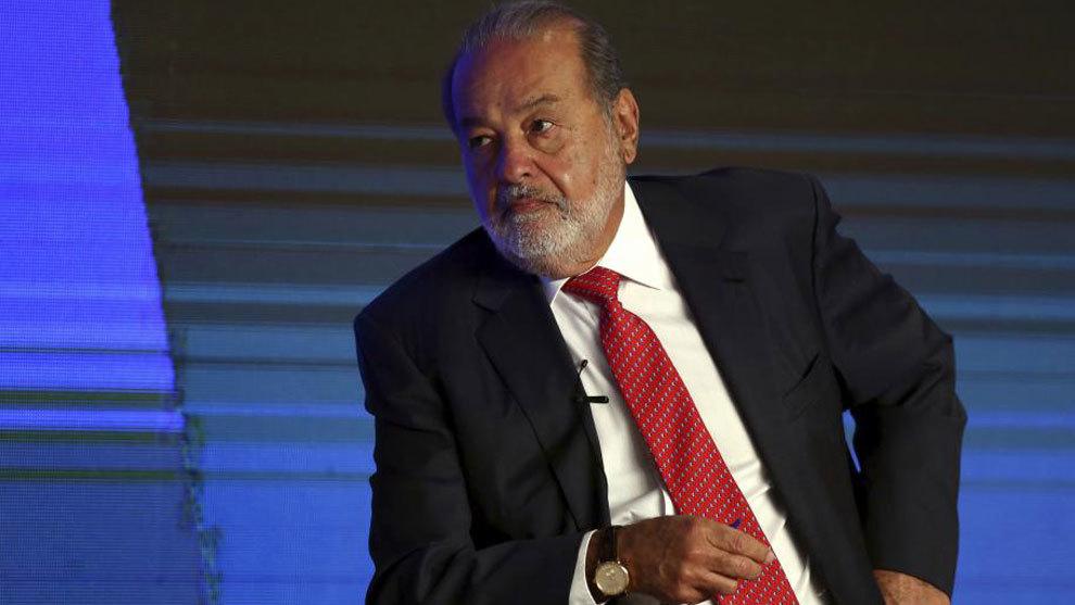 Carlos Slim, dueño del grupo Carso, durante una entrevista.