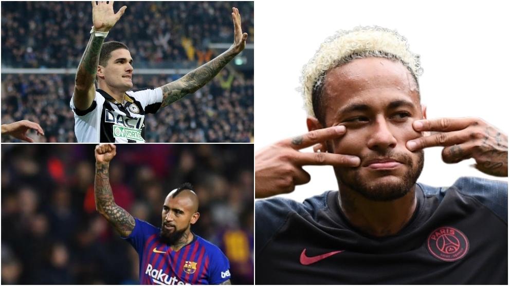 De Paul, Vidal y Neymar