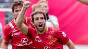 Diego Arana celebra un gol.