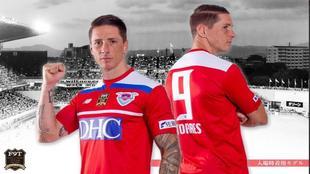 Torres, con la camiseta que lucirá en su último partido