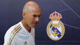 Zinedine Zidane at a press conference this summer.